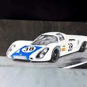 Porsche 910 Rennwagen weiß
